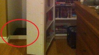 Descubrieron una puerta secreta en su habitación y lo que encontraron fue aterrador