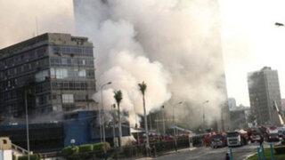 Bomberos logran controlar incendio en cuartel de la FAP