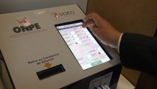 ONPE: voto electrónico será usado en 19 distritos esta segunda vuelta