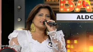 Carmen Omonte aceptó el reto y cantó en La Batería