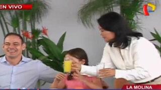 Keiko Fujimori tomó nutritivo desayuno a base de maca y quinua