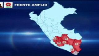 Verónika Mendoza triunfó en el sur del Perú