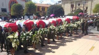 Huancayo: rinden homenaje a militares asesinados en el Vraem
