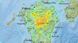 Terremoto de 7.1 grados sacude nuevamente el suroeste de Japón