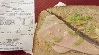 El sándwich 'premium' que indignó a una turista en el aeropuerto de Ibiza