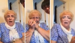 Mira la divertida reacción de una abuelita al cambiar su rostro con aplicación
