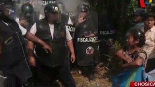 Violento enfrentamiento tras desalojo por obras de ampliación Ramiro Prialé