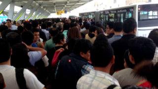 Metropolitano: Estación Naranjal colapsó por falta de buses
