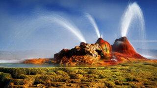 Géiser Fly, el 'volcán' de agua que sorprende a miles de personas en Nevada