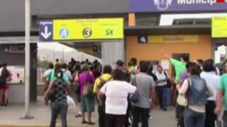 Registran caos en estación 'Naranjal' del Metropolitano