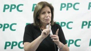 Lourdes Flores apoyará reforma del PPC tras derrota de Alianza Popular