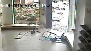 Uruguay: poderoso tornado destruye tienda de zapatos en solo 30 segundos