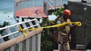 Brasil: derrumbe de puente construido para Olimpiadas deja 2 muertos