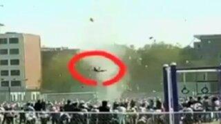China: tornado desató el pánico durante evento deportivo