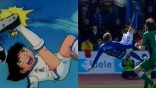 ¡A lo Oliver Atom!: anotan espectacular gol tras chalaca desde media cancha