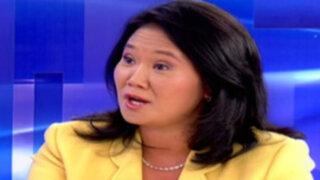 """Keiko: """"La libertad de mi padre se verá exclusivamente por la vía legal y constitucional"""""""