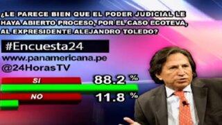 Encuesta 24: 88.2% cree que el Poder Judicial debe investigar a Alejandro Toledo