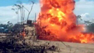 Marina de Guerra destruyó 20 campamentos de mineros informales en Madre de Dios