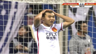 VIDEO: delantero chino tenía todo para anotar y falló un gol de forma increíble