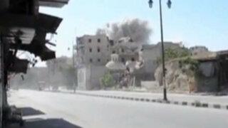 Siria: al menos 87 muertos tras bombardeos en Alepo