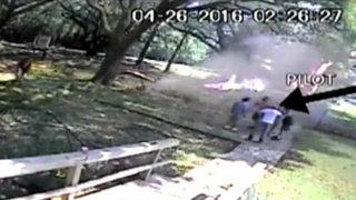 EEUU: piloto logra escapar de avioneta que ardía en llamas
