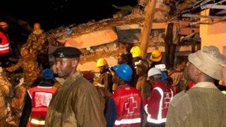 Derrumbe de edificio deja al menos diez muertos en Kenia
