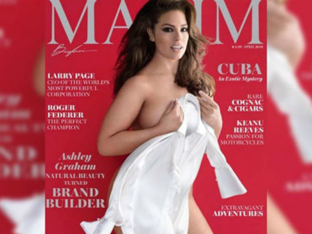 EEUU: revista Maxim 'adelgaza' a modelo de talla grande y genera polémica