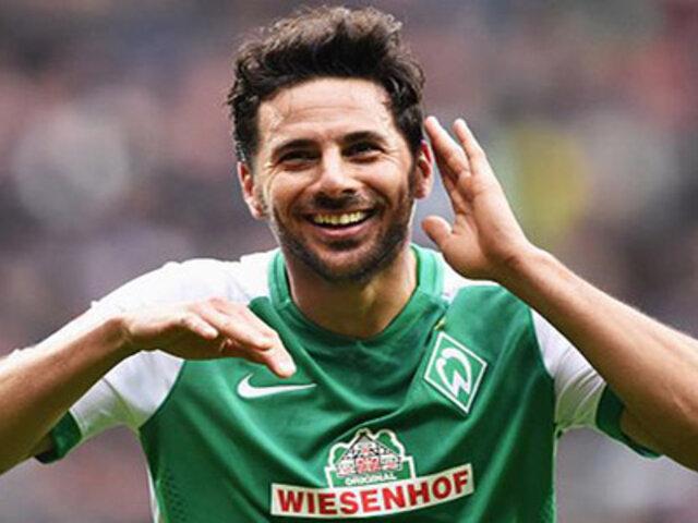 Claudio Pizarro volvió a anotar y se convirtió en el único goleador histórico de Werder Bremen