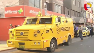 Hampones asaltan a agentes de Prosegur en cajero de SJM