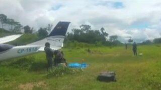Destruyen avioneta boliviana con droga en Oxapampa