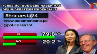 Encuesta 24: 79.8% cree que debe haber más de un debate presidencial