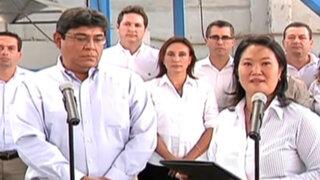 Keiko Fujimori presentó a Elmer Cuba como miembro de su equipo técnico