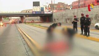 Cercado de Lima: hallan cadáver de sujeto en vía del Metropolitano