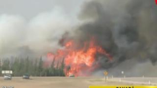 Incendio forestal sigue fuera de control en Canadá