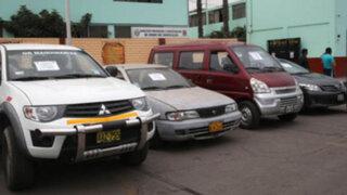 Recuperan 16 autos robados en Lima y comercializados en provincias