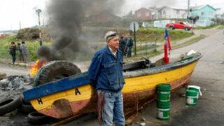 Pescadores intensifican sus protestas en Chile