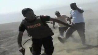 Huacho: invasores hacen correr a policías
