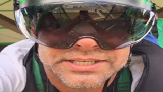 VIDEO: Ricky Martin se lanza de tirolesa más larga del mundo