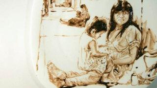 Retratos comestibles: pintor sorprende con obras a base de comida