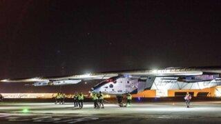 Estados Unidos: avión solar aterrizó en Oklahoma