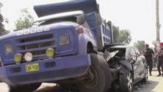 Chaclacayo: conductor salvó de morir tras sufrir violento accidente