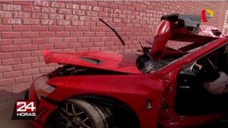 Fatal accidente vehicular en Surco fue por hacer carreras ilegales