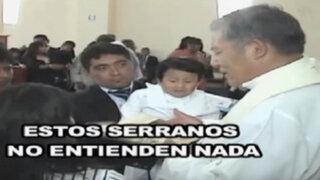 Arequipa: sacerdote usó expresiones racistas en bautizo