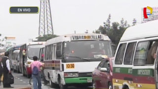 SMP: reportan intensa congestión vehicular en avenida Perú