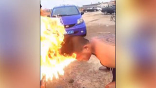 VIDEO: revolucionario corte de cabello casi termina en tragedia