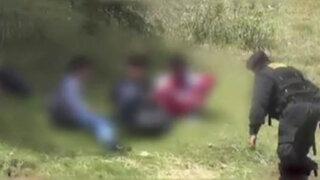Huancayo: encuentran a escolares bebiendo licor en descampado