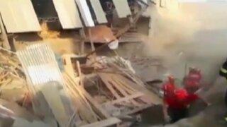 VES: dos obreros mueren en derrumbe de construcción