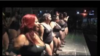 """Participantes del """"Miss Gordita 2016"""" presentan singular coreografía"""