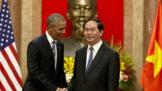 Obama anunció levantamiento de embargo militar en Vietnam