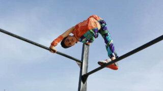 Gaza: destreza de niño contorsionista sorprende al mundo
